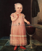 AMERICAN EMMA VAN NAME 1795 ARTIST PAINTING REPRODUCTION HANDMADE OIL CANVAS ART