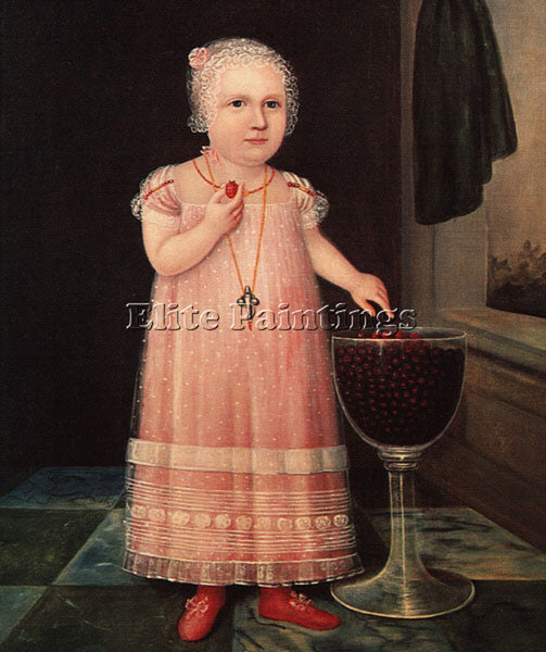 AMERICAN EMMA VAN NAME 1795 ARTIST PAINTING REPRODUCTION HANDMADE OIL CANVAS ART - Oil Paintings Gallery Repro