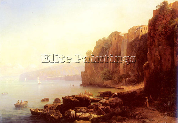 AUSTRIAN ENDER THOMAS SORRENTO ARTIST PAINTING REPRODUCTION HANDMADE OIL CANVAS