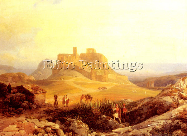AUSTRIAN ENDER THOMAS THE ACROPOLIS ATHENS ARTIST PAINTING REPRODUCTION HANDMADE