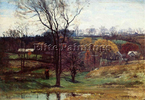 JOHN JOSEPH ENNEKING A LATE AFTERNOON WALK ARTIST PAINTING REPRODUCTION HANDMADE