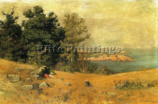 JOHN JOSEPH ENNEKING BERRYING AT THE SEASHORE ARTIST PAINTING REPRODUCTION OIL