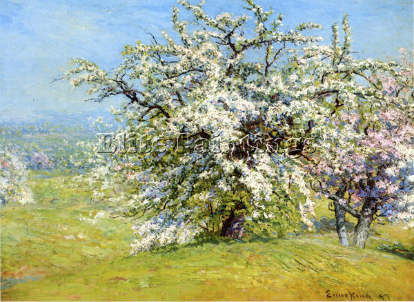 JOHN JOSEPH ENNEKING BLOOMING MEADOWS ARTIST PAINTING REPRODUCTION HANDMADE OIL