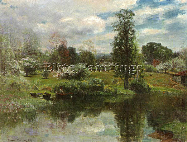 JOHN JOSEPH ENNEKING SUMMER ON THE LAKE ARTIST PAINTING REPRODUCTION HANDMADE