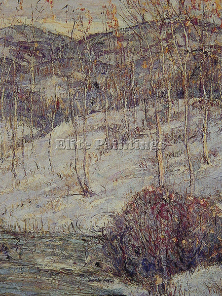 ERNEST LAWSON BLUE STREAM NO 2 ARTIST PAINTING REPRODUCTION HANDMADE OIL CANVAS