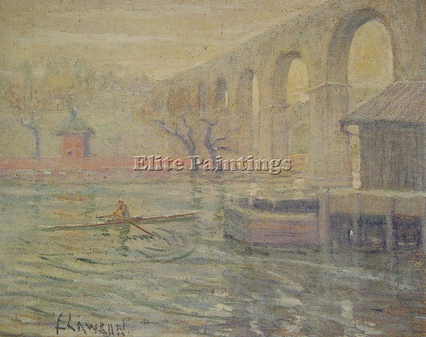 ERNEST LAWSON HIGH BRIDGE AT NOON ARTIST PAINTING REPRODUCTION HANDMADE OIL DECO