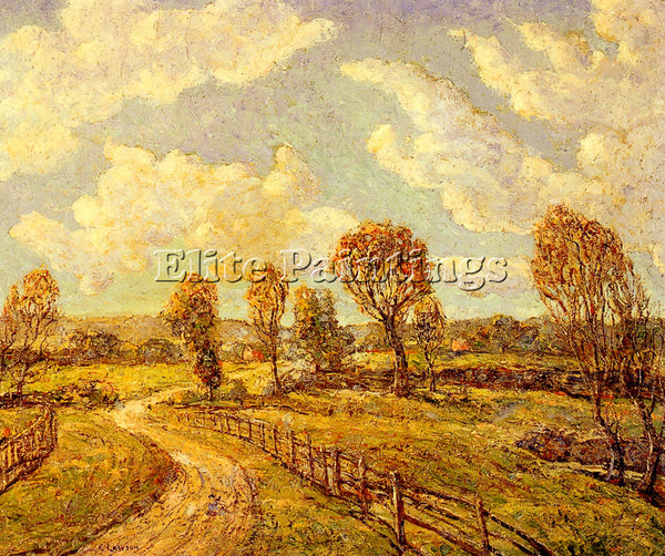 ERNEST LAWSON NEW ENGLAND LANDSCAPE ARTIST PAINTING REPRODUCTION HANDMADE OIL