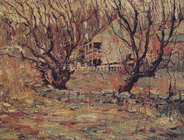 ERNEST LAWSON UNKNOWN ARTIST PAINTING REPRODUCTION HANDMADE OIL CANVAS REPRO ART