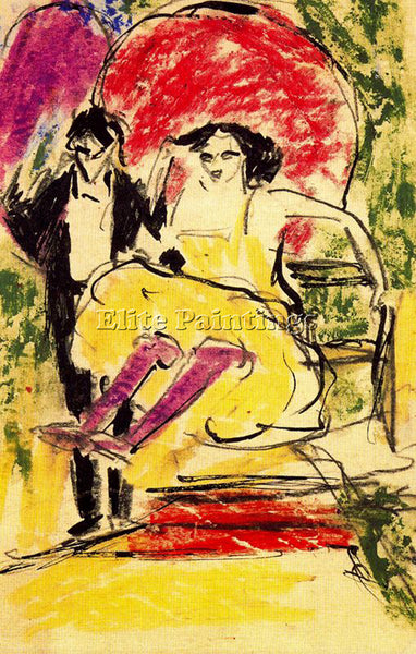 ERNST LUDWIG KIRCHNER KIRCH10 ARTIST PAINTING REPRODUCTION HANDMADE CANVAS REPRO