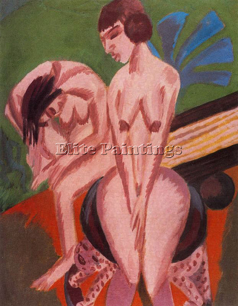 ERNST LUDWIG KIRCHNER KIRCH13 ARTIST PAINTING REPRODUCTION HANDMADE CANVAS REPRO