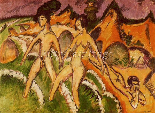 ERNST LUDWIG KIRCHNER KIRCH14 ARTIST PAINTING REPRODUCTION HANDMADE CANVAS REPRO