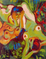 ERNST LUDWIG KIRCHNER KIRCH15 ARTIST PAINTING REPRODUCTION HANDMADE CANVAS REPRO