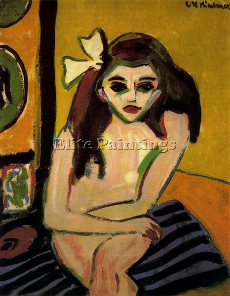 ERNST LUDWIG KIRCHNER KIRCH17 ARTIST PAINTING REPRODUCTION HANDMADE CANVAS REPRO