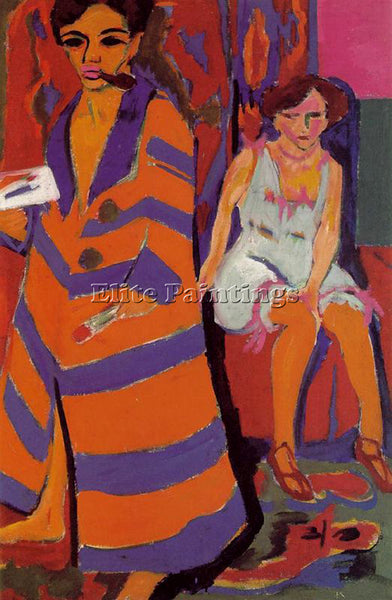 ERNST LUDWIG KIRCHNER KIRCH24 ARTIST PAINTING REPRODUCTION HANDMADE CANVAS REPRO