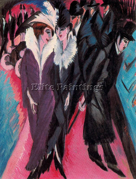 ERNST LUDWIG KIRCHNER KIRCH25 ARTIST PAINTING REPRODUCTION HANDMADE CANVAS REPRO