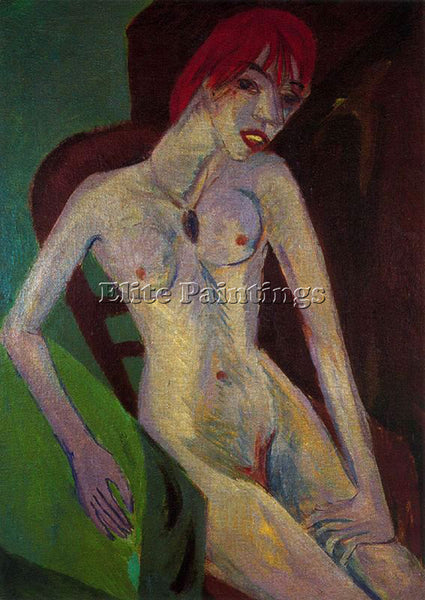 ERNST LUDWIG KIRCHNER KIRCH27 ARTIST PAINTING REPRODUCTION HANDMADE CANVAS REPRO