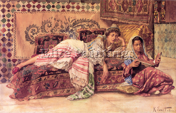 RUDOLF ERNST ERNST R THE READER ARTIST PAINTING REPRODUCTION HANDMADE OIL CANVAS