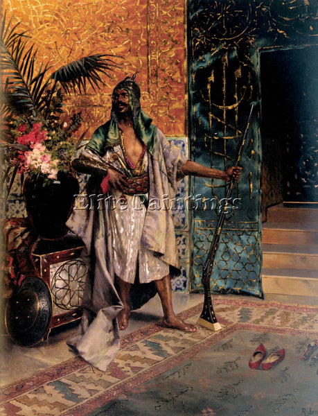 RUDOLF ERNST HAREM GUARD ARTIST PAINTING REPRODUCTION HANDMADE CANVAS REPRO WALL