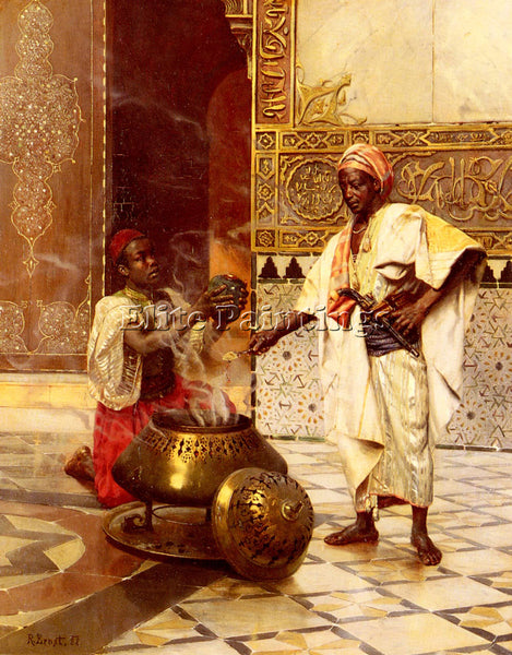 RUDOLF ERNST IN THE ALHAMBRA ARTIST PAINTING REPRODUCTION HANDMADE CANVAS REPRO