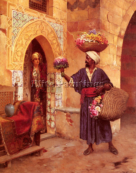 RUDOLF ERNST LE MARCHAND DE FLEURS ARTIST PAINTING REPRODUCTION HANDMADE OIL ART
