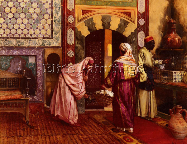 RUDOLF ERNST THE HAMMAM ARTIST PAINTING REPRODUCTION HANDMADE CANVAS REPRO WALL