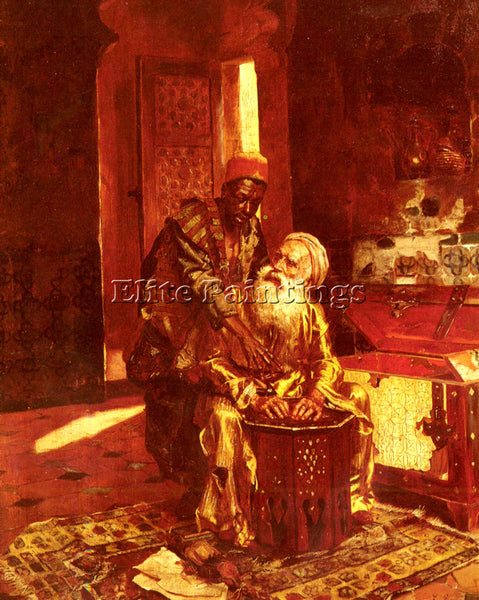 RUDOLF ERNST THE MONEY CHANGER ARTIST PAINTING REPRODUCTION HANDMADE OIL CANVAS