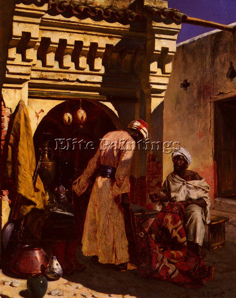 RUDOLF ERNST THE RUG MERCHANT ARTIST PAINTING REPRODUCTION HANDMADE CANVAS REPRO