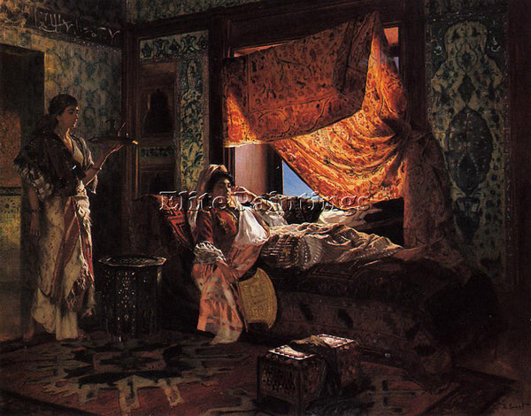 RUDOLF ERNST A MOORISH INTERIOR ARTIST PAINTING REPRODUCTION HANDMADE OIL CANVAS