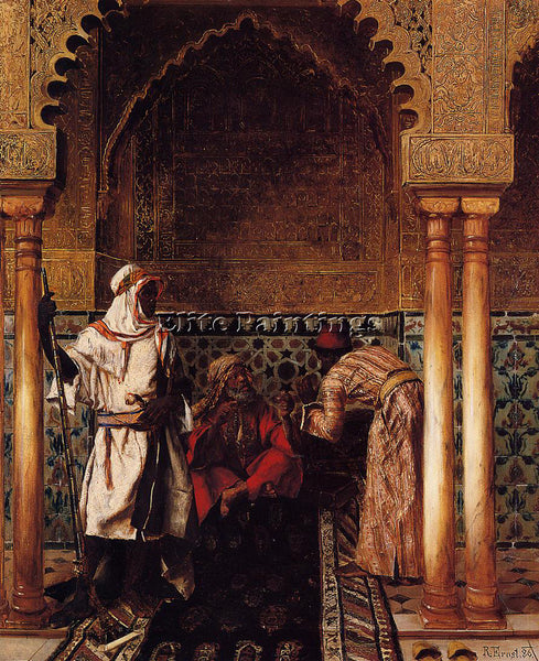 RUDOLF ERNST AN ARAB SAGE ARTIST PAINTING REPRODUCTION HANDMADE OIL CANVAS REPRO