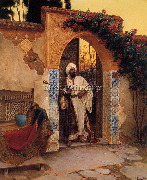 RUDOLF ERNST BY THE ENTRANCE ARTIST PAINTING REPRODUCTION HANDMADE CANVAS REPRO