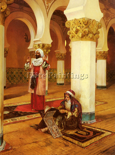 RUDOLF ERNST EVENING PRAYER ARTIST PAINTING REPRODUCTION HANDMADE OIL CANVAS ART