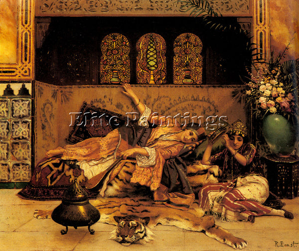 RUDOLF ERNST LES CAPTIVES ARTIST PAINTING REPRODUCTION HANDMADE OIL CANVAS REPRO