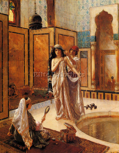 RUDOLF ERNST THE HAREM BATH ARTIST PAINTING REPRODUCTION HANDMADE OIL CANVAS ART