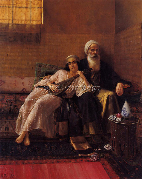 RUDOLF ERNST THE MUSICIAN ARTIST PAINTING REPRODUCTION HANDMADE OIL CANVAS REPRO