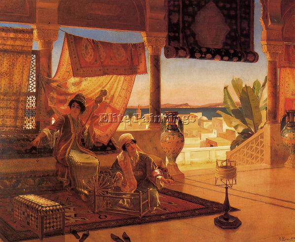 RUDOLF ERNST THE TERRACE ARTIST PAINTING REPRODUCTION HANDMADE CANVAS REPRO WALL