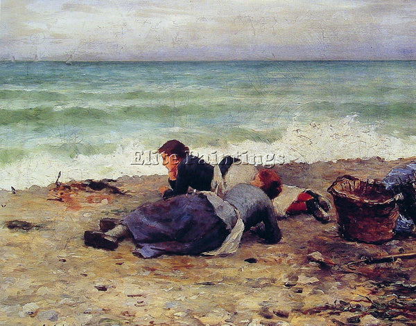 DANIEL RIDGWAY KNIGHT ETRETAT SUR MER ARTIST PAINTING REPRODUCTION HANDMADE OIL