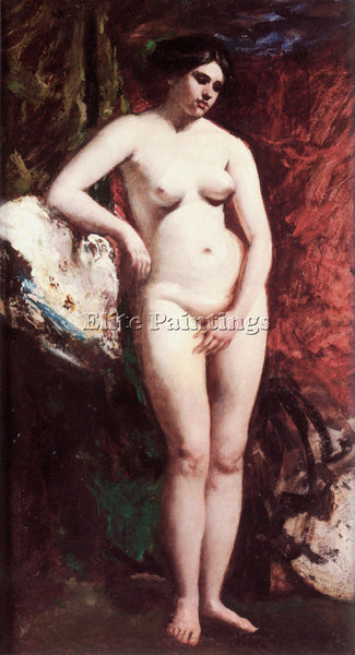 WILLIAM ETTY ETTY STANDING NUDE ARTIST PAINTING REPRODUCTION HANDMADE OIL CANVAS