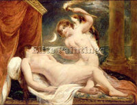 WILLIAM ETTY CUPID AND PSYCHE ARTIST PAINTING REPRODUCTION HANDMADE CANVAS REPRO