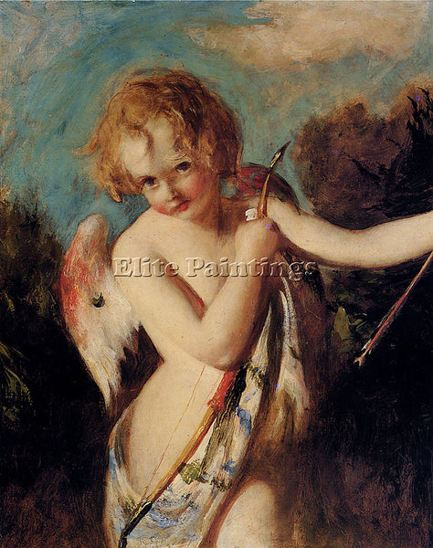 WILLIAM ETTY CUPID ARTIST PAINTING REPRODUCTION HANDMADE CANVAS REPRO WALL DECO