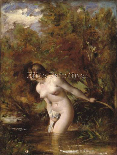 WILLIAM ETTY MUSIDORA THE BATHER ARTIST PAINTING REPRODUCTION HANDMADE OIL REPRO
