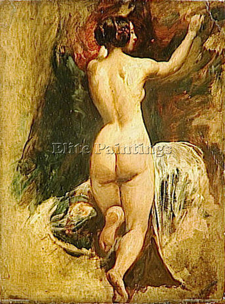 WILLIAM ETTY NUDE WOMAN FROM BEHIND ARTIST PAINTING REPRODUCTION HANDMADE OIL