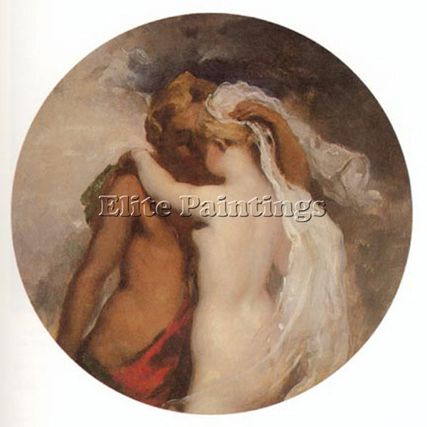 WILLIAM ETTY NYMPH AND SATYR ARTIST PAINTING REPRODUCTION HANDMADE CANVAS REPRO