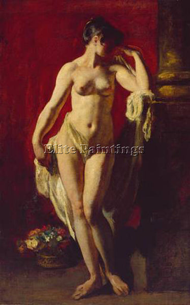 WILLIAM ETTY STANDING FEMALE NUDE ARTIST PAINTING REPRODUCTION HANDMADE OIL DECO