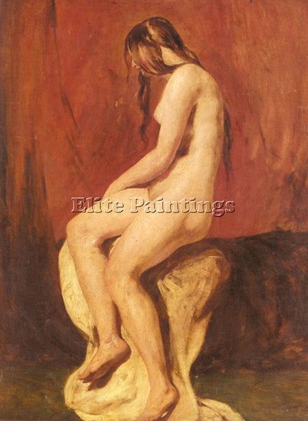 WILLIAM ETTY STUDY OF A FEMALE NUDE ARTIST PAINTING REPRODUCTION HANDMADE OIL