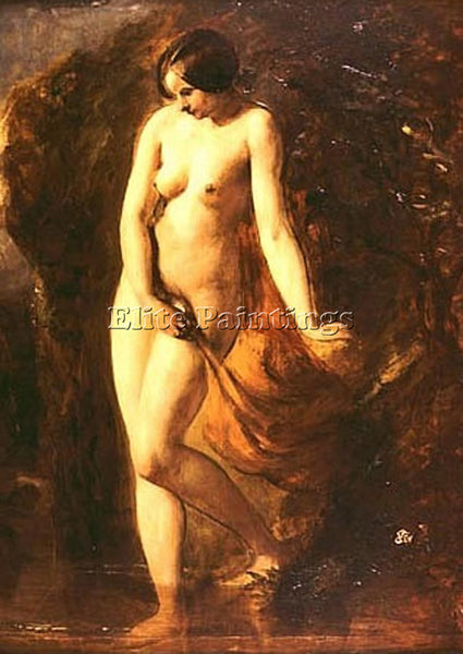 WILLIAM ETTY THE BATHER ARTIST PAINTING REPRODUCTION HANDMADE CANVAS REPRO WALL