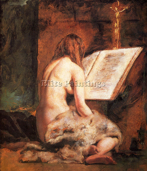 WILLIAM ETTY THE PENITENT MAGDALEN ARTIST PAINTING REPRODUCTION HANDMADE OIL ART