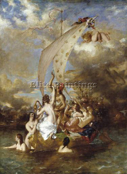 WILLIAM ETTY YOUTH AT THE PROW PLEASURE AT THE HELM ARTIST PAINTING REPRODUCTION