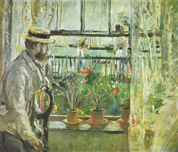 MORISOT EUGENE MANET ON THE ISLE OF WIGHT ARTIST PAINTING REPRODUCTION HANDMADE