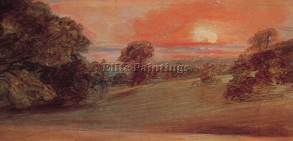 JOHN CONSTABLE EVENING LANDSCAPE AT EAST BERGHOLT ARTIST PAINTING REPRODUCTION