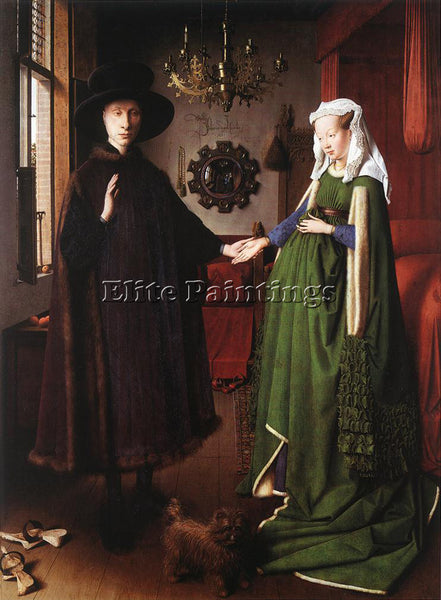 JAN VAN EYCK PORTRAIT OF GIOVANNI ARNOLFINI AND HIS WIFE ARTIST PAINTING CANVAS